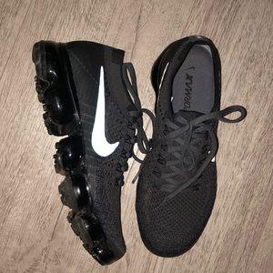 Dark grey Nike vapor max sneakers